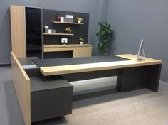 executive office table and chairs modern furniture office table office furniture executive desk mode Office Table And Chairs, Office Table Design, Corporate Office Design, Office Furniture Design, Office Interior Design, Office Interiors, Table Desk, Executive Office Furniture, Modern Office Desk