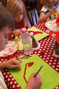 Christmas P-art-y  Art party for kids