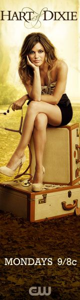 Rachel Bilson: 'Hart of Dixie' Poster! Rachel Bilson holds a stethoscope while sitting on two suitcases in the poster for her new show, Hart of Dixie, via THR. The stars as Zoe Hart in… Zoe Hart, Hart Of Dixie, Rachel Bilson, Wilson Bethel, Wade Wilson, Jaime King, The Cw, Movies Showing, Movies And Tv Shows