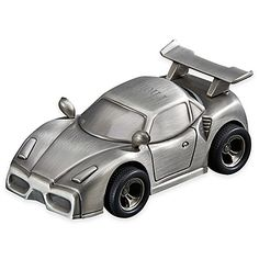 Sports Car Bank in Pewter