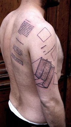 Cool men's back book tattoo, Backs books tattoos Tattoo Son, Sick Tattoo, Bff Tattoos, Dream Tattoos, Arm Tattoos For Guys, Future Tattoos, Cool Tattoos, Bookish Tattoos, Mens Back