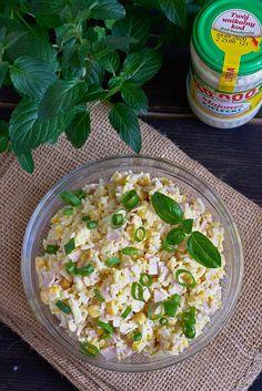 Cheddar, Pasta Salad, Grains, Ethnic Recipes, Food, Thermomix, Crab Pasta Salad, Cheddar Cheese, Meals