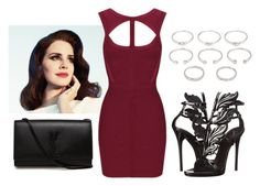 """""""Untitled #1433"""" by aginica ❤ liked on Polyvore featuring Yves Saint Laurent, Giuseppe Zanotti and Forever 21"""