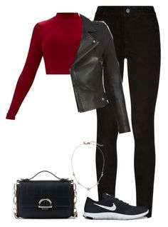 A fashion look from January 2018 featuring red shirt, moto jacket and Paige Denim. Browse and shop related looks. Baddie Outfits Casual, Cute Casual Outfits, Stylish Outfits, Girls Fashion Clothes, Teen Fashion Outfits, Outfits For Teens, Bad Girl Outfits, Teenager Outfits, Really Cute Outfits