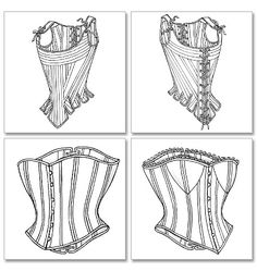 Cosplay sewing patterns and historical costume sewing patterns. Make bodysuits, corsets, capes, gowns, tunics and more for cosplay costumes. Cosplay events listing and cosplay tutorials. Motif Corset, Corset Sewing Pattern, Diy Corset, Corset Tops, Historical Costume, Historical Clothing, Clothing Patterns, Sewing Patterns, Clothing Styles