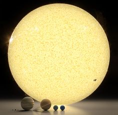 I don't know about you, but every time I'm reminded about the huge scale of the universe, I mentally re-evaluate my own life and my relationship with what is around me. This amazing illustration by Roberto Ziche's with the Sun and the planets laying on the floor makes that comparison even more impressive.