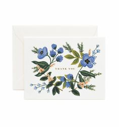 Rifle Paper Co. - Thank You Bouquet - Available As A Single Folded Card Or Boxed Set Of 8
