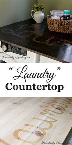 "Creating a ""Laundry"" countertop from pine boards"