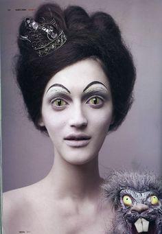 FEDOR BITKOV crazy avant garde makeup