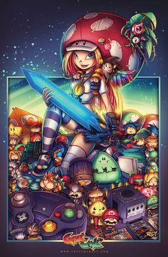 GameCave: Fighting  Junkies Bombkatt Print final by RobDuenas.deviantart.com on @deviantART