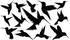 13 humming bird vector elements in this Humming Bird Silhouette Vector each one layered and isolated easy to edit and customize ideal for bird vector graphics. Bird Silhouette Tattoos, Silhouette Clip Art, Animal Silhouette, Bird Drawings, Drawing Sketches, Drawing Art, Sketching, Tiny Bird Tattoos, Tattoo Bird