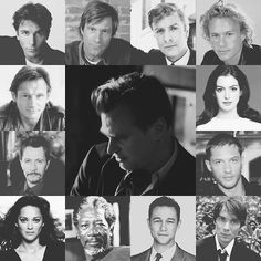 Christopher Nolan and his cast of The Dark Knight Trilogy