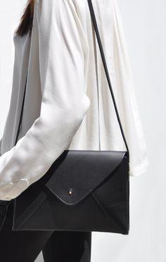 Style: Minimal + Classic- black handbags, crossbodys and totes #accessories #fashion love this bag!