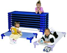 Daycare cots and daycare rest mats. Childcare supply for daycare, preschool and kindergarten cots and nap mats. | Honor Roll Childcare Suppl...