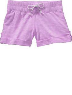 Girls Slub-Knit Shorts