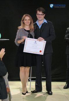 "@raduraluca is presented her ""Hypnotic Speaker & Presenter""Certification by Master Hypnotist & Trainer Igor Ledochowski. Congratulations Raluca! #BehindTheScenes #hypnosis #certification #LiveEvents #exclusive #IgorLedochowski"