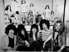 New York Dolls 1972 Billy Murcia RIP, Johnny Thunders RIP, David Johansen, Sylvain Sylvain and Arthur Kane RIP
