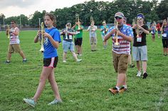 Music. Marching. Sweating. All three were blending into a new performance show over the last two weeks at Westerville South High School, as members of the marching band worked through band camp and pre-band camp exercises.