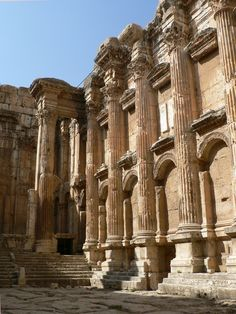 One of my best destinations!!! I like to go back!  The ruins of the Roman Temple of Bacchus at Baalbek, Lebanon.