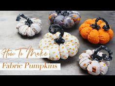 Fun & Easy Fabric Pumpkin Tutorial | DIY Halloween Decor - YouTube Halloween Fabric, Halloween Diy, All You Need Is, Pumpkin Uses, Fabric Pumpkins, Diy Halloween Decorations, Sewing Tutorials, Diy Tutorial, Vintage Inspired