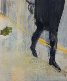 Cathrine Boman - Ekebladet, Acryl på lerret, 50 x 60 cm
