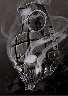 Skull Art by RaskOpticon @ deviantart ☠️ Tattoo Design Drawings, Skull Tattoo Design, Skull Tattoos, Tattoo Sketches, Body Art Tattoos, Sleeve Tattoos, Dark Fantasy Art, Dark Art, Skull Art