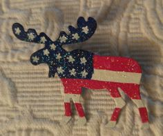 Patriotic Alaska Moose!