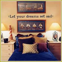 Nautical Bedroom red, white and blue – nautical style | room, bedrooms and beach