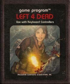 Left 4 Dead - #Atari Video Game Cartridges by starroivas #deviantart