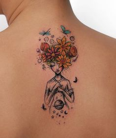 When done properly, a reduced back tattoo could be both sexy and stylish. These tattoos are usually found on older and young females. Tattoos on this particular part of the rear are very popular that Tattoo Girls, Girl Tattoos, Tattoos For Women, Tatoos, Female Back Tattoos, Body Art Tattoos, New Tattoos, Small Tattoos, Hand Tattoos