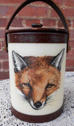 Fox Ice Bucket / Vintage Fox Ice Bucket / Bacova by LindsaysList, $69.00