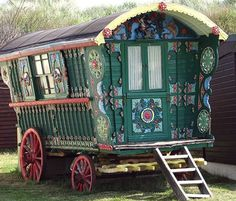"My great-aunt always said I was ""a gypsy like [my] grandmother."" Not really sure what she meant, but this wagon definitely speaks to me. I feel like my soul might look like one of these."