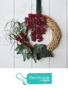 1-of-a-kind made in Italy refined Christmas decor with pink pepper, Italian style Holidays wreath from Ghirlandiamo http://www.amazon.com/dp/B017A9ZASK/ref=hnd_sw_r_pi_dp_uDrmwb0DZHN43 #handmadeatamazon