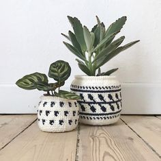 DIY crocheted plant pots by @boy_knits_world #grenediy