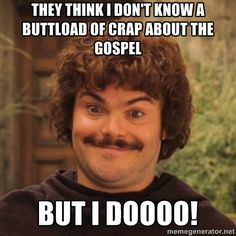 Nacho Libre - I love it. It's the best. it's fantastic. Oh my gosh! Someone finally made a damn Nacho Libre meme. My life is complete ^_^ >> Go Nacho! I Smile, Make Me Smile, Movie Quotes, Funny Quotes, Life Quotes, Funny Memes, Haha, Tv, I Love To Laugh