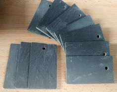 10 pack of 7 x 4cm slate tags   eBay - £3.95. My God, is there nothing you can't buy on eBay???
