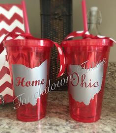 A personal favorite from my Etsy shop https://www.etsy.com/listing/256858906/ohio-state-tumblers