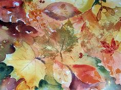 Autumnal Jewels - Original Watercolour by CPascoeWatercolours on Etsy