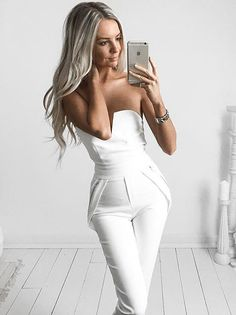 just cute white jumpsuit I need this