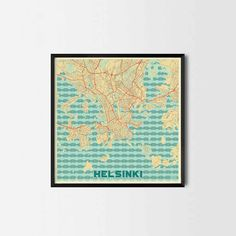 Helsinki City Prints - Art posters and map prints of your favorite city. Unique design of a map. Perfect for your house and office or as a gift.