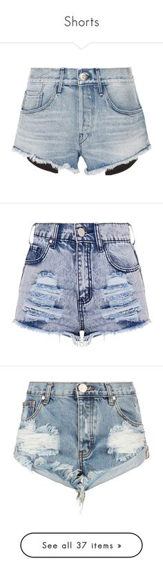 """""""Shorts"""" by sralewis ❤ liked on Polyvore featuring shorts, light denim, short jean shorts, light blue denim shorts, cuffed jean shorts, cuffed shorts, jean shorts, blue shorts, distressed shorts and short shorts"""