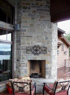 Highlands Ledge Thin Veneer with rustic grout joint from Montana Rockworks #stone #thin veneer #design ideas #natural stone #fireplace #sandstone