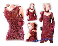 Crochet Patterns Russian Magazine eBook Irish Lace Dresses Wedding Fashion Diagrams Charts - Free Shipping - CRZEFB35P