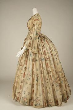 American cotton dress 1856