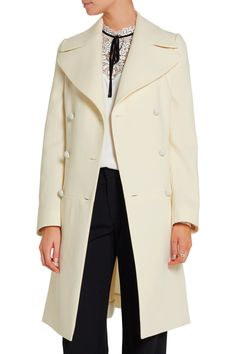 Shop on-sale Nina Ricci Belted wool-blend twill coat. Browse other ...