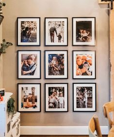 Over 20 trendy living room wall gallery design ideas - stylish wall gallery with . Family Pictures On Wall, Family Picture Walls, Picture Wall Living Room, Home Pictures, Photowall Ideas, Entryway Wall Decor, Family Wall Decor, Living Room Decor, Winter Photos