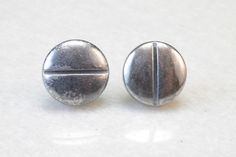 Pills Post Earrings in Sterling Silver by RSBP Jewelry