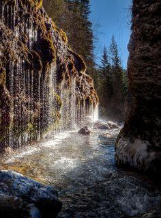 Die Triefen in Hinterthal zu Neujahr Waterfall, Photography, Outdoor, Naturaleza, Water Drops, Outdoors, Photograph, Fotografie, Fotografia