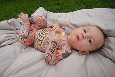 Tattooed Babies! Really Cool Tattoes! | Photo library