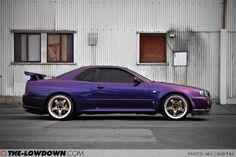 nissan skyline gtr R33 midnight purple | HEADLINER: DEREK'S MIDNIGHT PURPLE GT-R